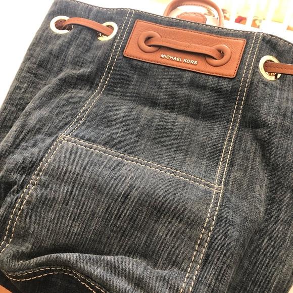 Michael Kors Handbags - Michael Kors Denim Backpack Tote